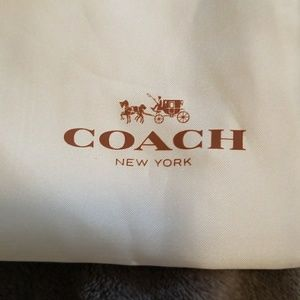 Authentic COACH dust cover